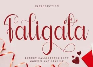 Faligata Script Font