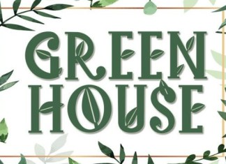 Green House Display Font