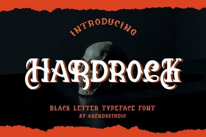 Hardrock Display Font