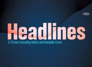 Headlines Sans Serif Font