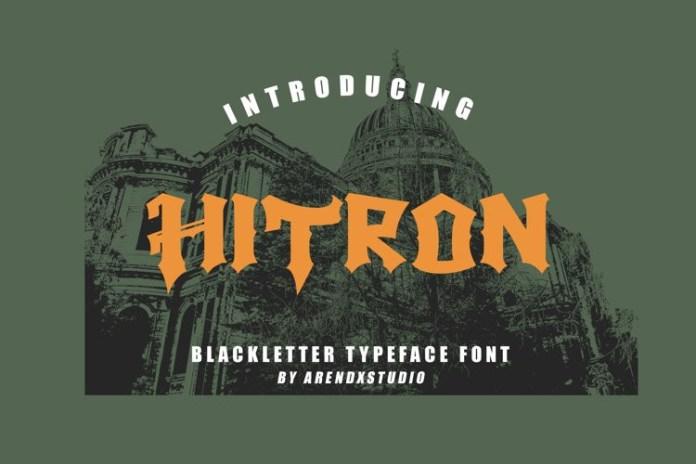 Hitron Display Font
