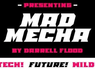 Mad Mecha Display Font