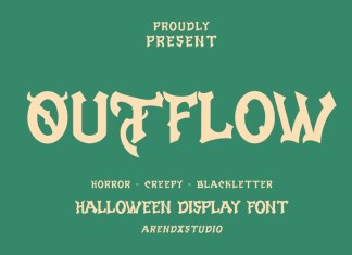 Outflow Display Font