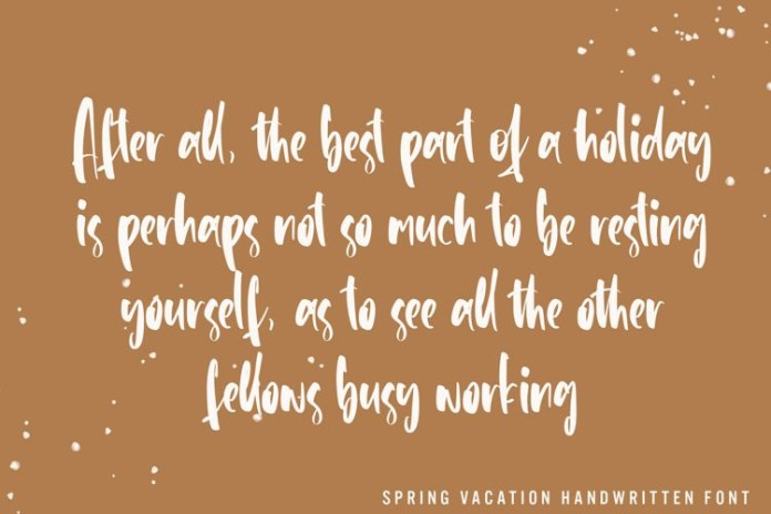 Spring Vacation Script Font