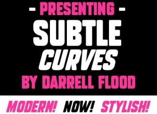 Subtle Curves Display Font
