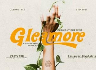 Gleamore Display Font