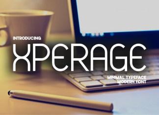 Xperage Display Font