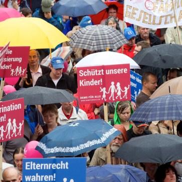 DEMO FÜR ALLE, Kundgebung und Demonstration am 28.6.2014 in Stuttgart. Foto: Wolfram Scheible