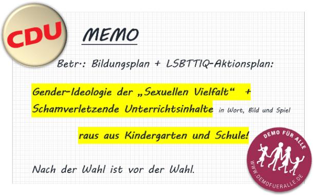 CDU-memo