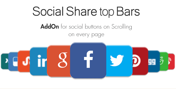 Social Share top Bar AddOn - WordPress 4