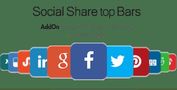 Social Share top Bar AddOn - WordPress 4