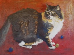 "Katie at Play, acrylic, 18""x24"" ©Charlotte B. DeMolay"