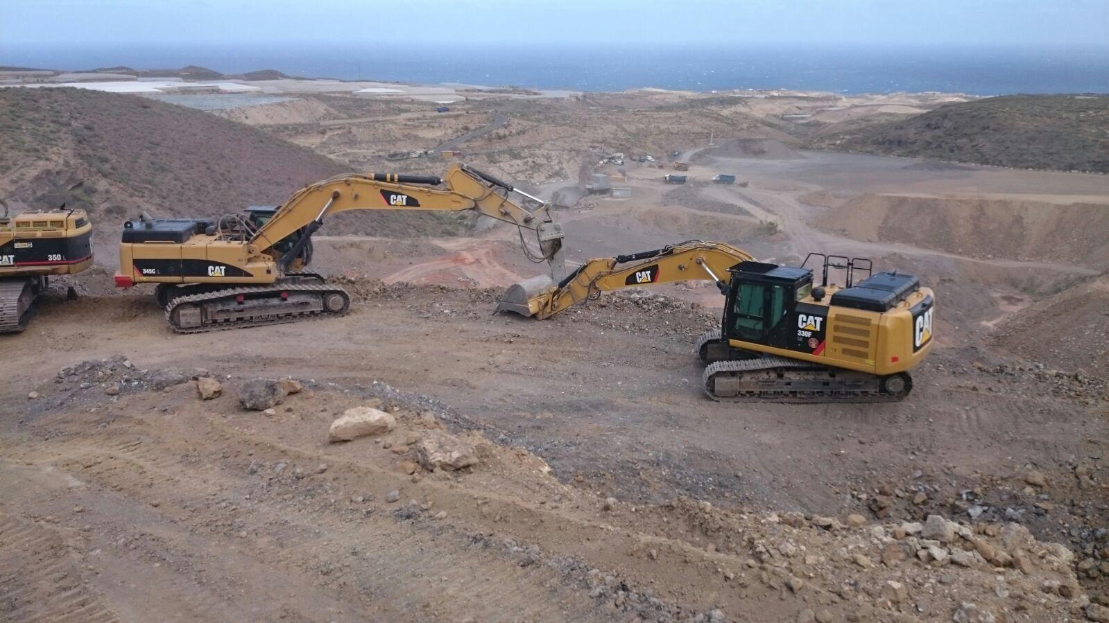 Excavadoras de orugas de 20,30,40,50 tn para excavación