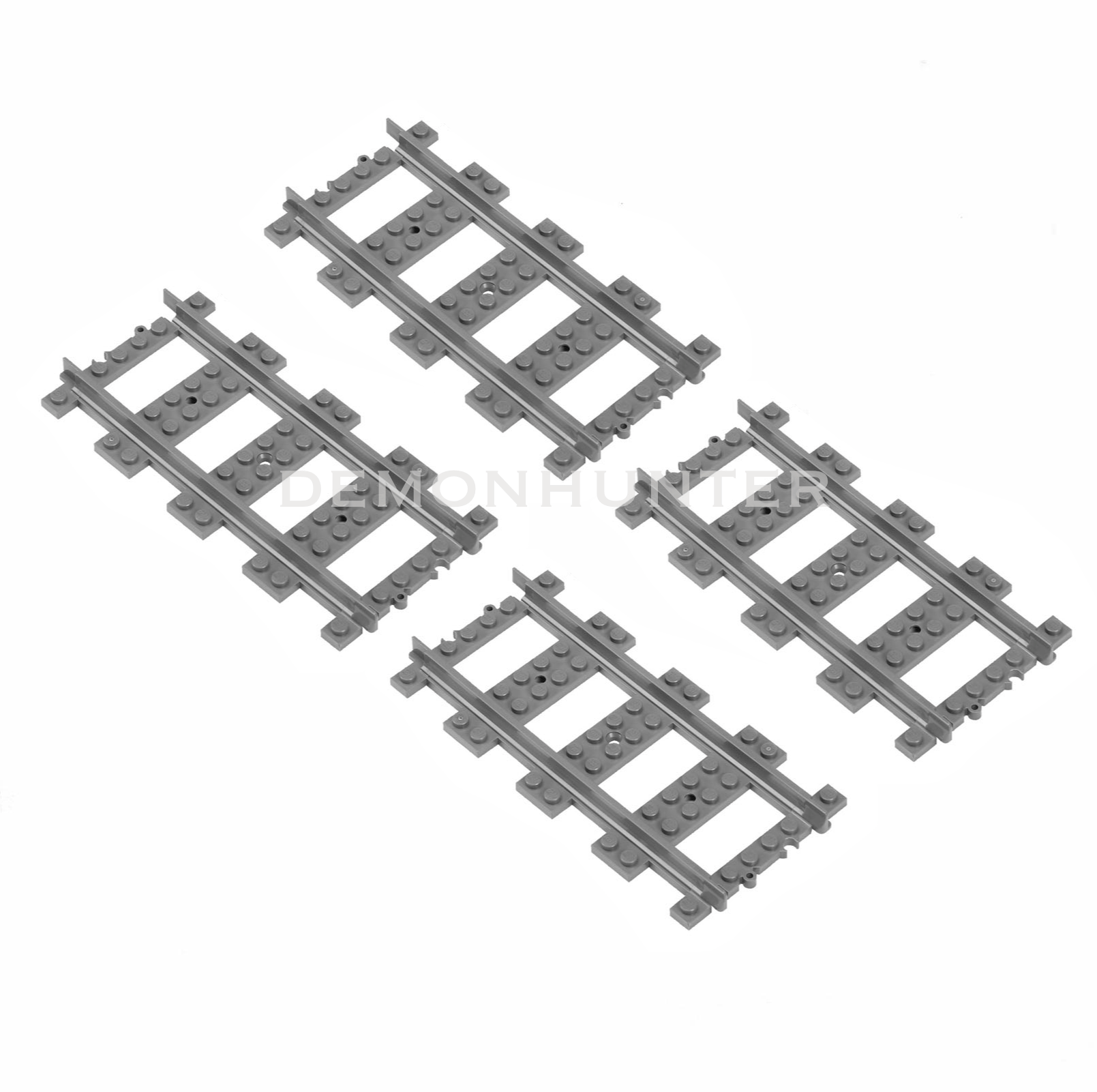 Lego Straight Train Track Pieces X4