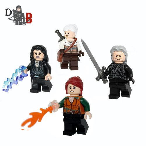 lego witcher geralt ciri yennefer Triss