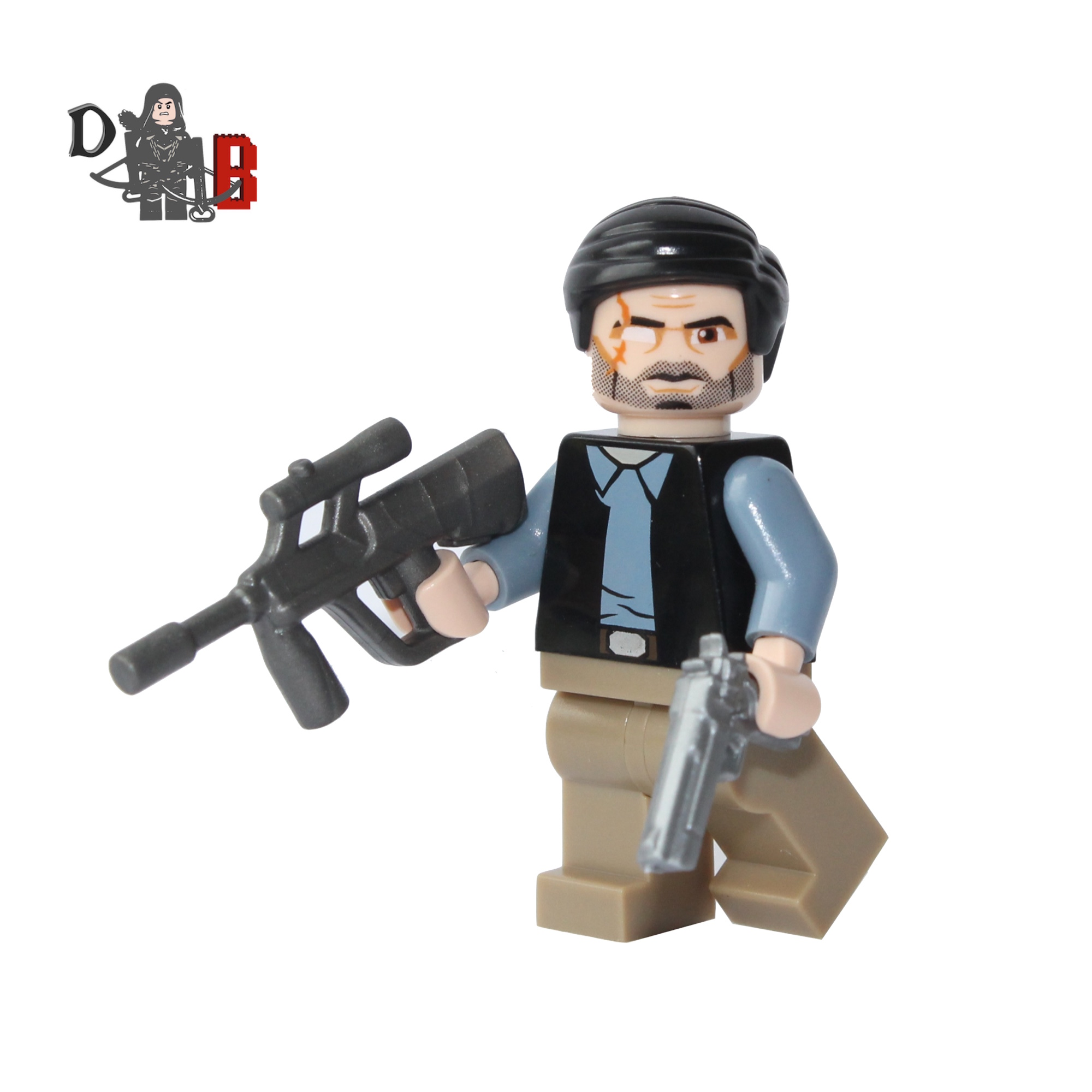 The Walking Dead Minifigures Rick Michonne /& Glenn made with LEGO /& custom parts