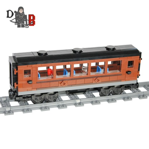 Custom city Flying Scotsman/Emerald night passenger carriage car made using LEGO pieces