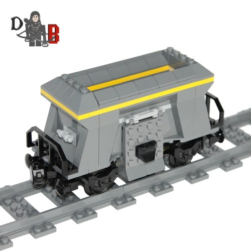"This listing is for all the parts to build your very own hopper wagon, it comes unassembled and upon purchase I will email you a PDF copy of the instructions and send out all the pieces necessary to build it as pictured. The hopper measures 15cm long and 8 cm high and features 15 LEGO coal pieces to put in through the top and empty out the side doors. Includes 146 bricks made using genuine new LEGO parts only. Each Hopper is carefully packaged into a re-sealable bag and shipped in a bubble lined envelope for extra protection. ""LEGO® is a trademark of the LEGO Group of companies. The LEGO Group does not sponsor, authorise or endorse the modified/customised product(s) shown nor does it accept responsibility in any way, shape or form for any unforeseen and/pr adverse consequences following from such customisation/modification."""