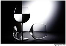 Glass B&W by jenrygraphy