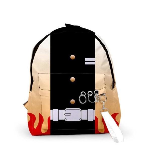 Kyojuro Rengoku Pattern Backpack - Demon Slayer Merch