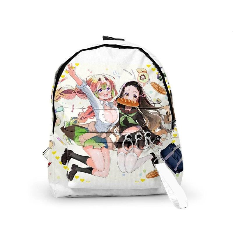 Mitsuri & Nezuko School Uniform Backpack - Demon Slayer Merch