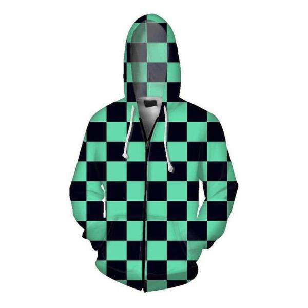 demon slayer zip up hoodie