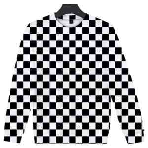 KNY Sweater Black and White Pattern