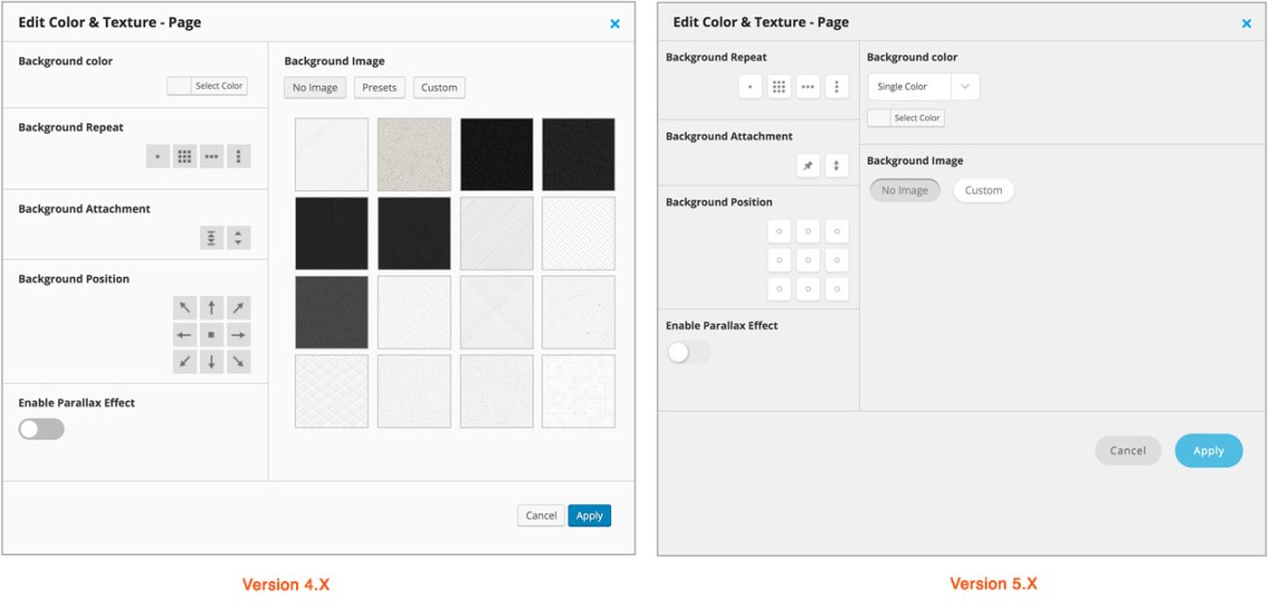 Background Selector Patterns