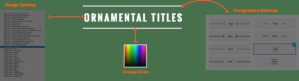 Ornamental Title