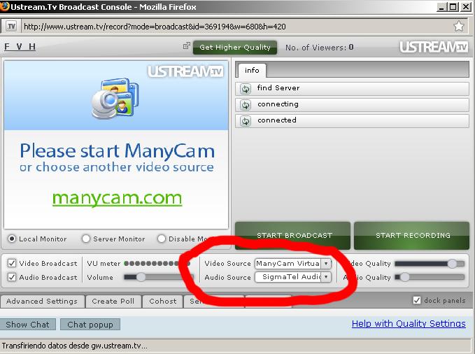 Es muy simple hacer el cambio de fuente... cuando te detecta Manycam como una señal por si sola