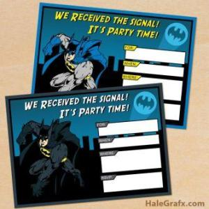 free batman birthday invitations