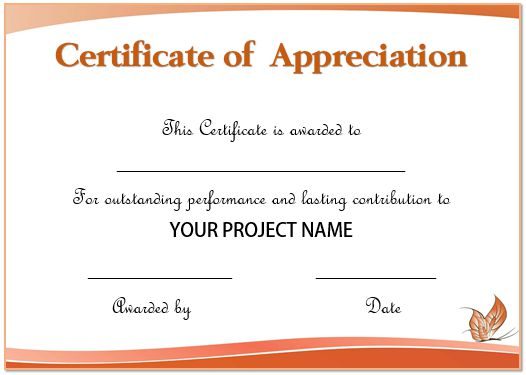 50+ Professional Free Certificate of Appreciation ...