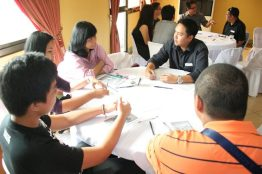 Members of the January PEACE Team engaging with the attendees
