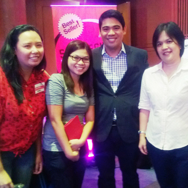 With the Entrep Champ himself, Mr. Paulo Tibig, and PVAN friends Teennah & Ate Mas :)