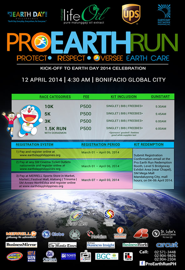 Pro Earth Run details