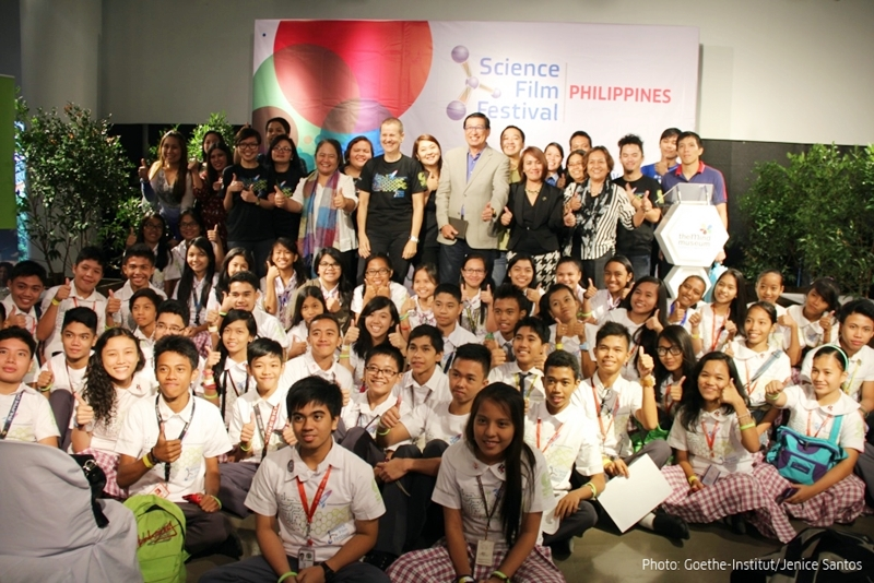 The organizers and students of the Science Film Festival Philippines