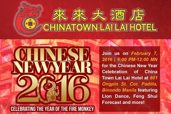 Experience a Special CNY Celebration at Chinatown Lai Lai Hotel!