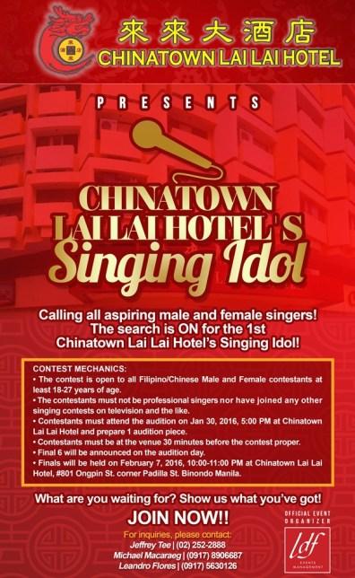 ChinatownLaiLaiHotel-SingingIdol2016