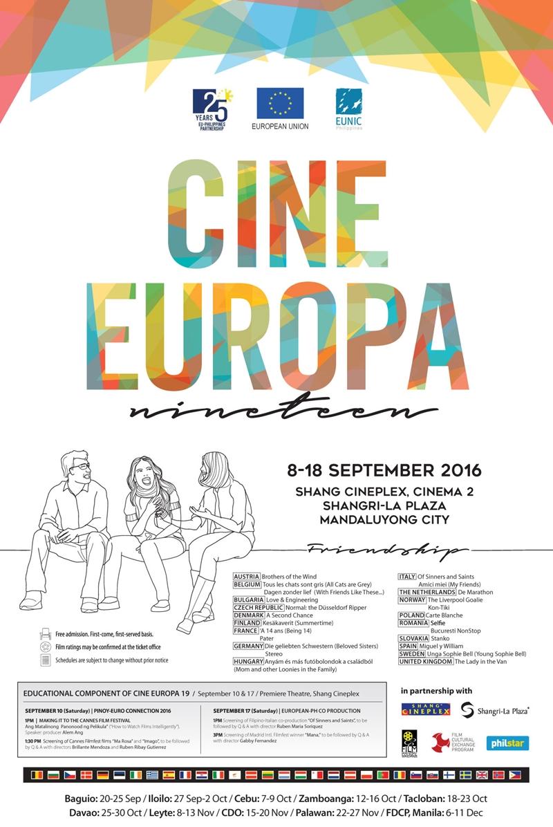 [Film] Cine Europa Nineteen: A Celebration of Friendship