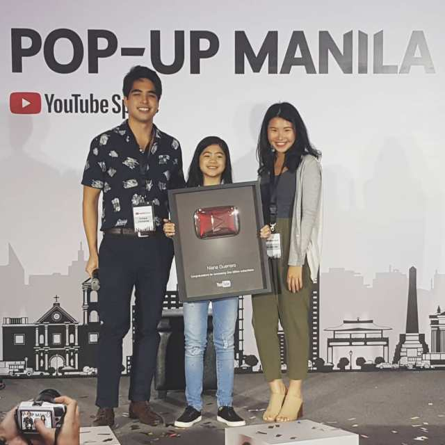 Congrats Niana for taking home the YouTube Gold button afterhellip