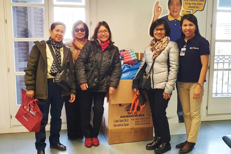 BDO Remit Spain Launched Donation Drive for Taal Victims