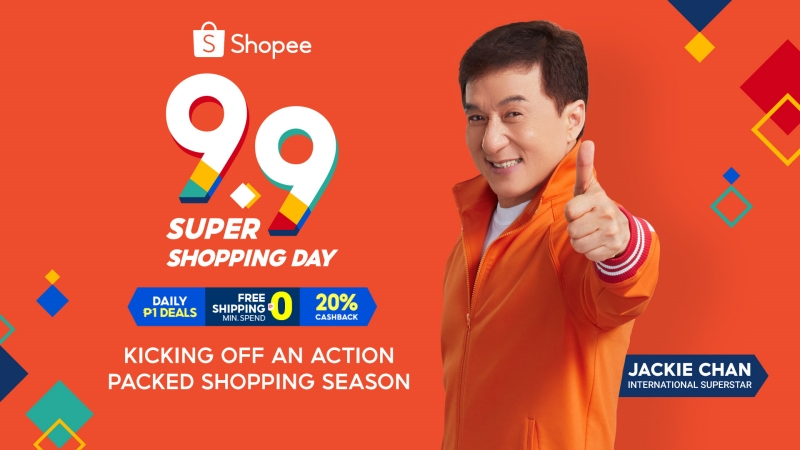 An action-packed shopping season awaits Shopee users this 9.9, Jackie Chan launched as new Shopee Brand Ambassador