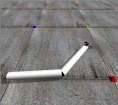 A 2DOF Robot Arm Petit Simulator, Open Dynamics Engine