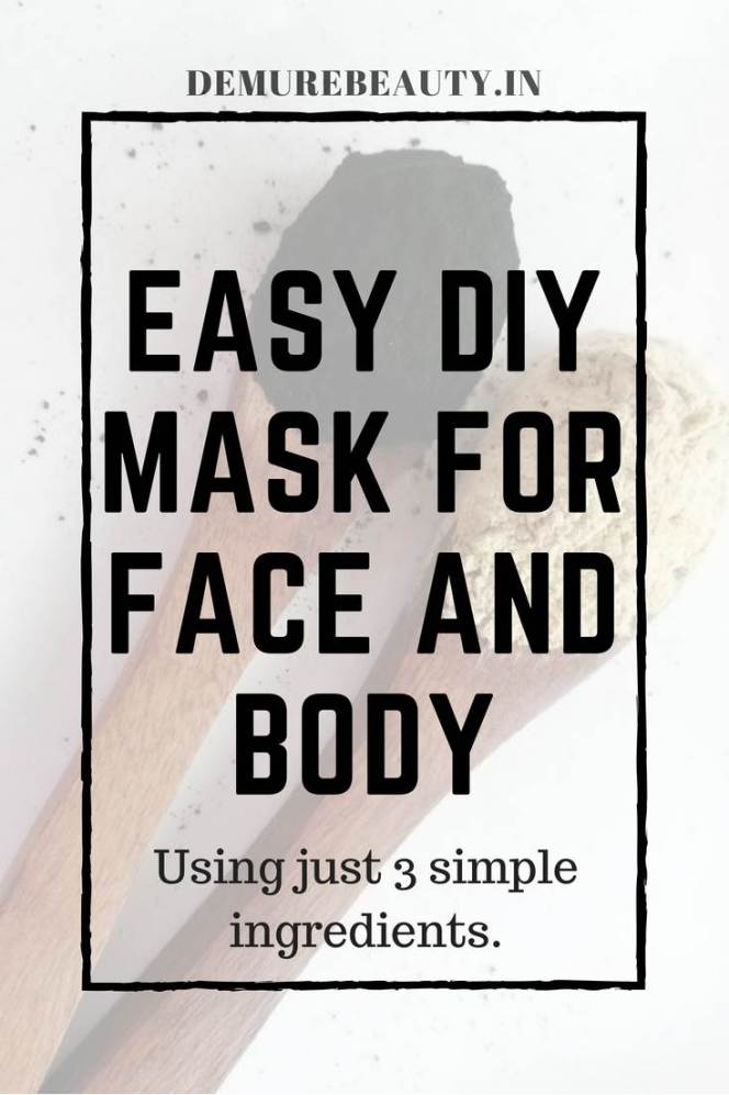 DIY face mask. DIY skincare recipes. Treat acne prone skin.