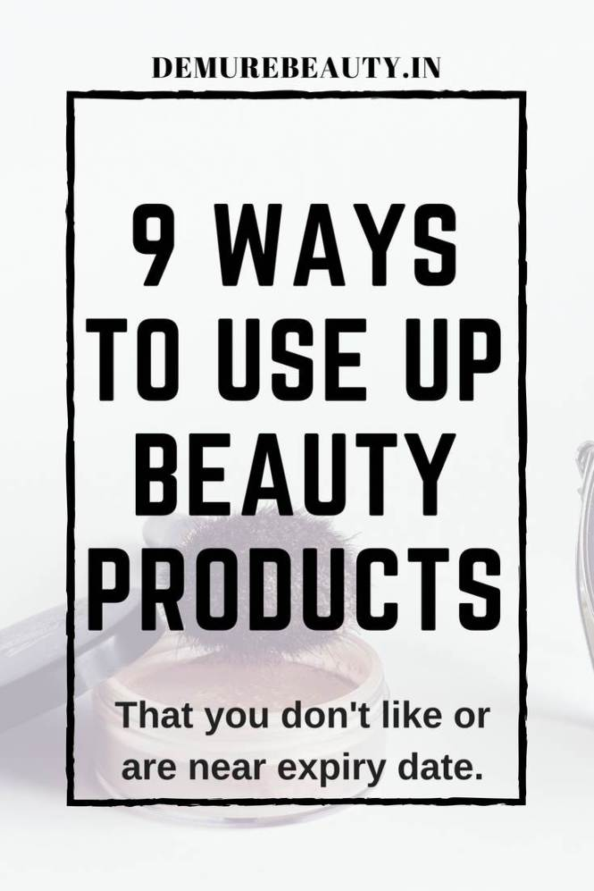 use up beauty products