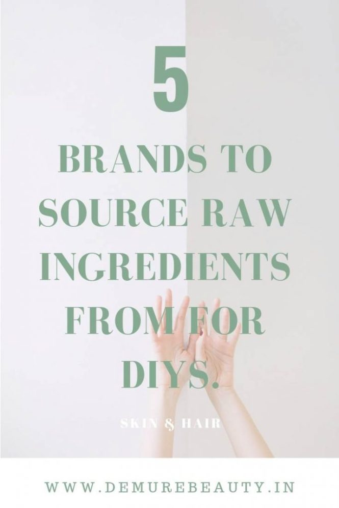 DIY SKINCARE INGREDIENTS BRANDS