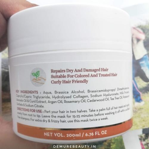 mamaearth argan hair mask ingredients