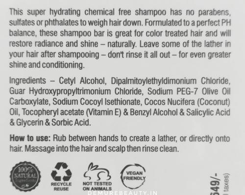 soapworks india coconut shampoo bar