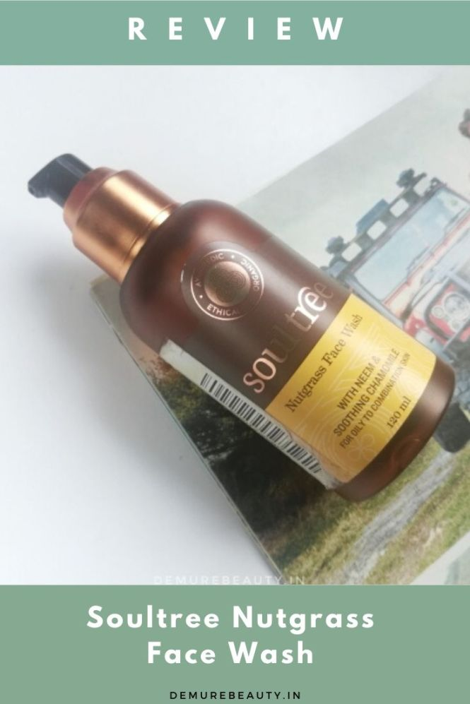 soultree nutgrass facewash for oily skin. natural and clean skincare product