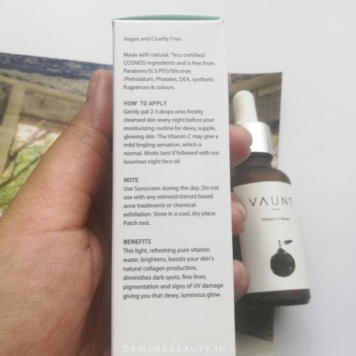 vaunt vitamin c water review